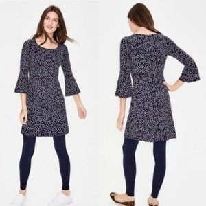 Boden Navy Starry Bird Miriam Jersey Tunic US(8)